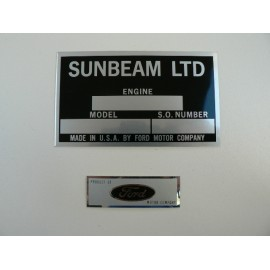 Engine Specification plate