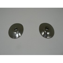 Washer jet chrome mounts (pair)